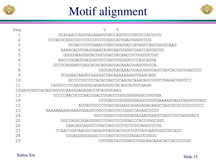 Motif alignment