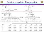 predictive update frequencies