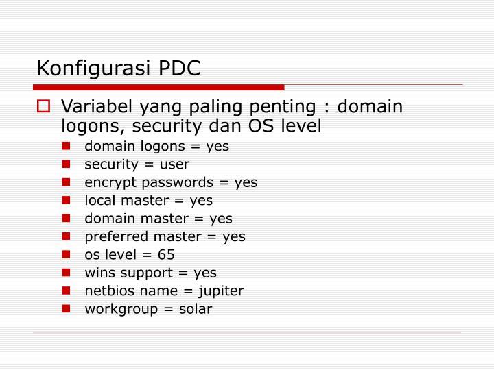 Konfigurasi PDC