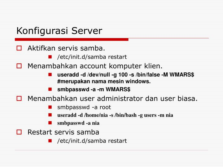 Konfigurasi Server