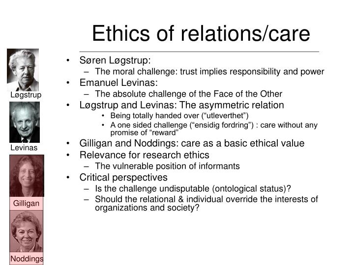 Ethics of relations/care