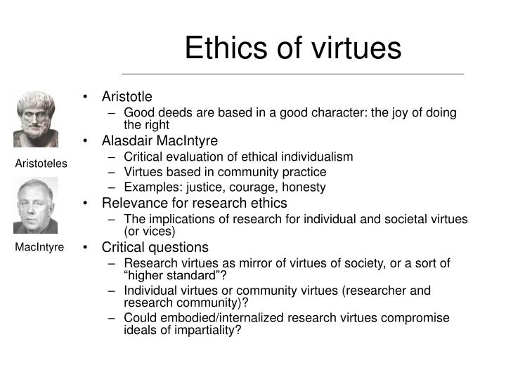 Ethics of virtues