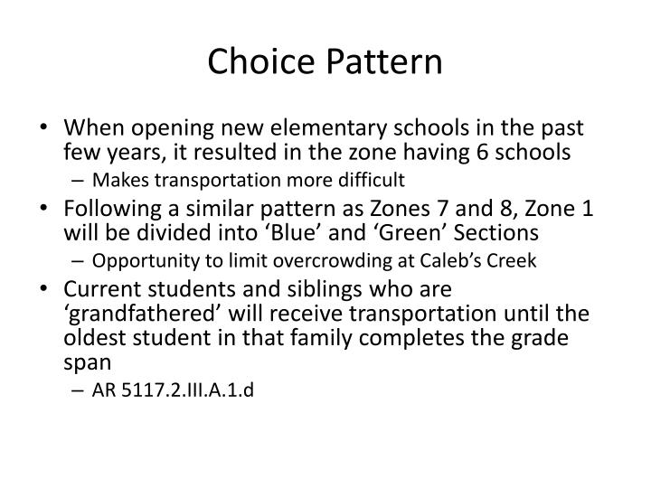 Choice Pattern