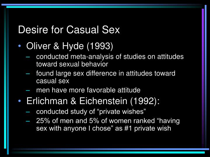 Desire for Casual Sex