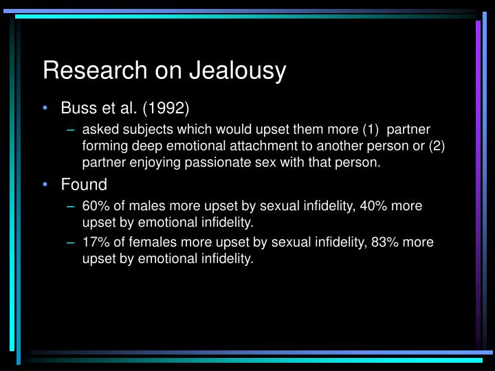 Research on Jealousy