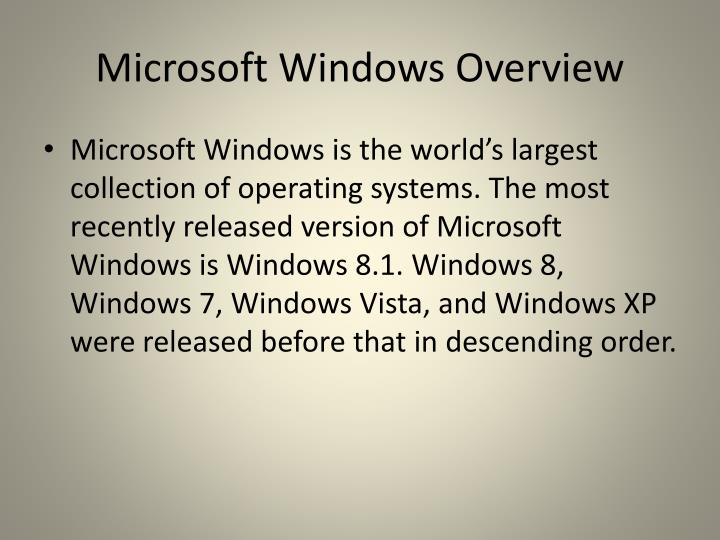 Microsoft windows overview