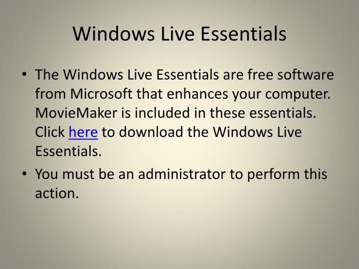Windows Live Essentials