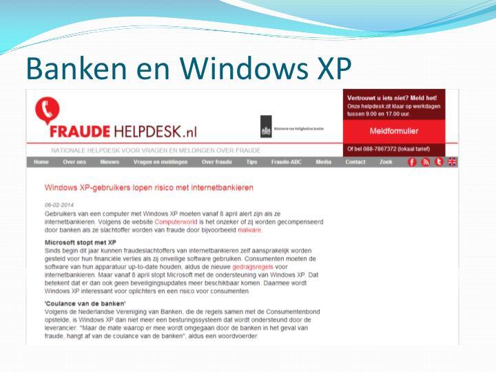 Banken en Windows XP