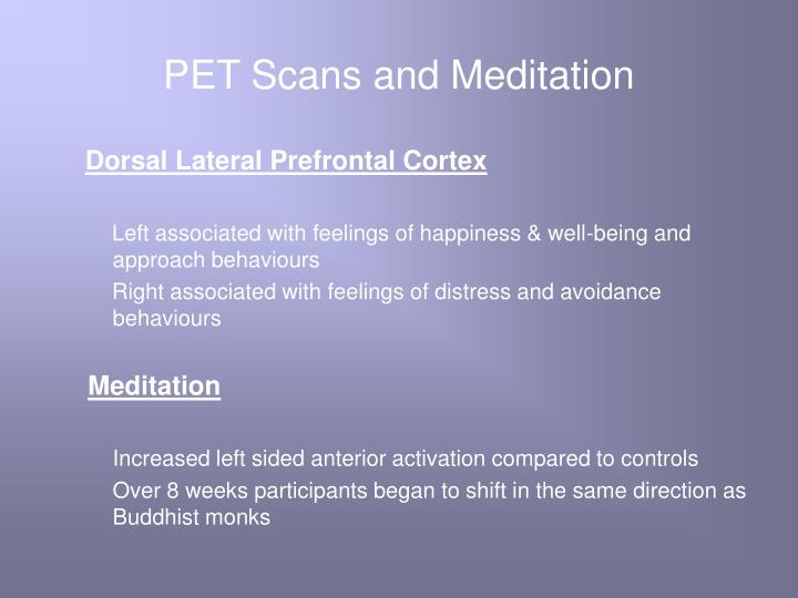 PET Scans and Meditation