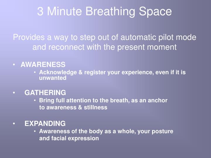 3 Minute Breathing Space