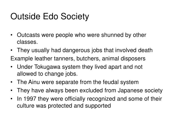 Outside Edo Society