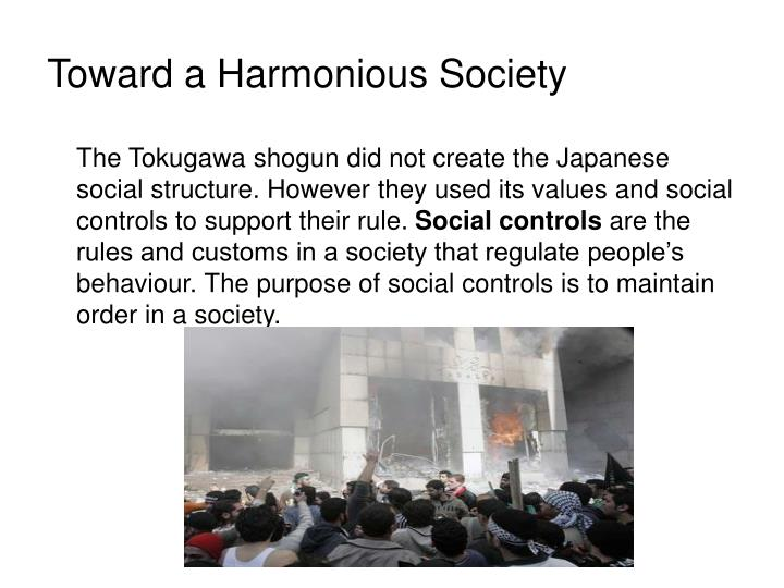 Toward a Harmonious Society