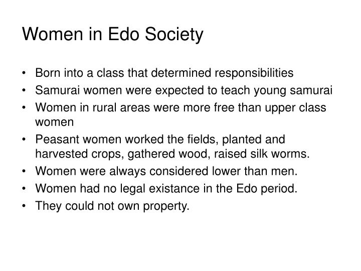 Women in Edo Society