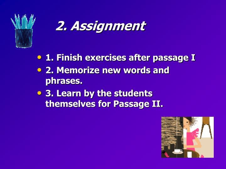 2. Assignment
