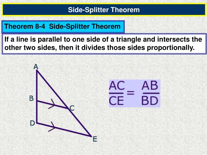 Side-Splitter Theorem