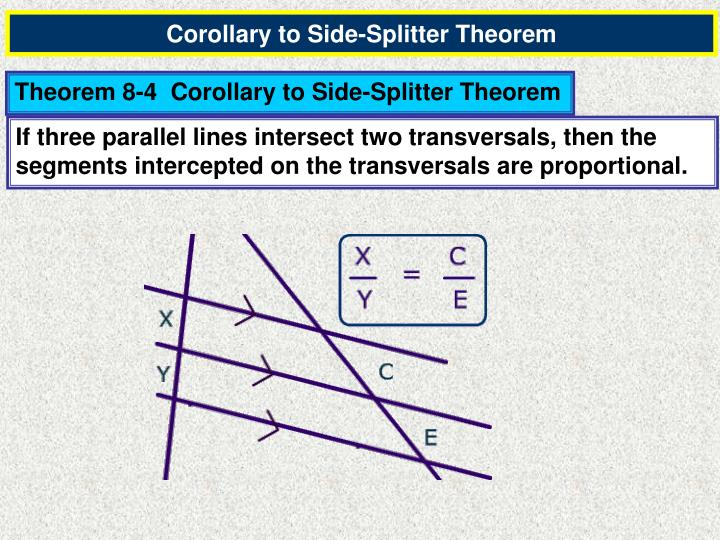 Corollary to Side-Splitter Theorem