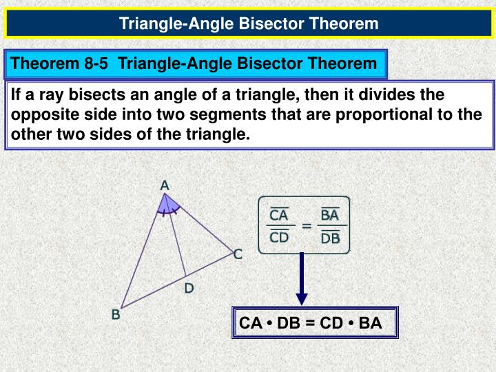 Triangle-Angle Bisector Theorem