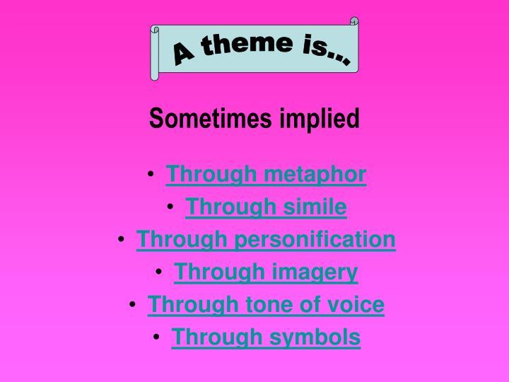 Through metaphor