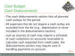 cash budget cash disbursements