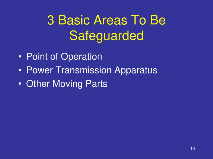 3 Basic Areas To Be Safeguarded