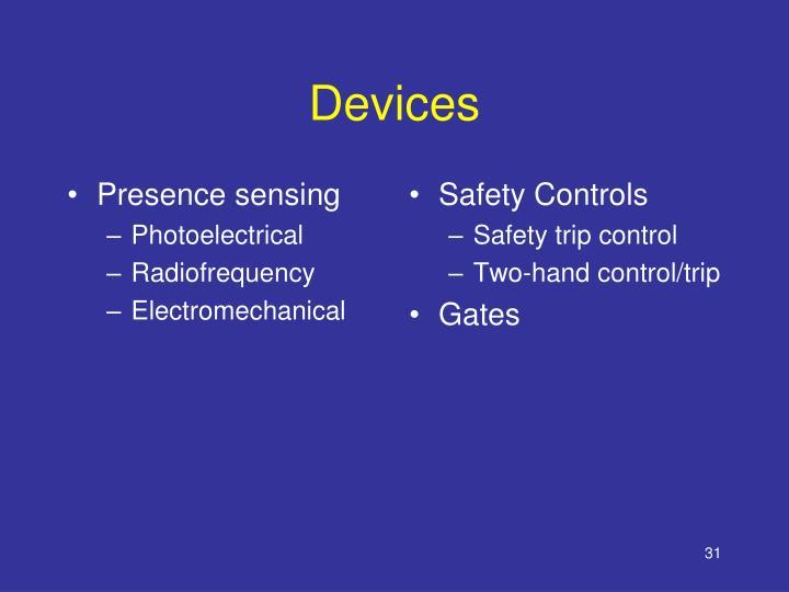Presence sensing