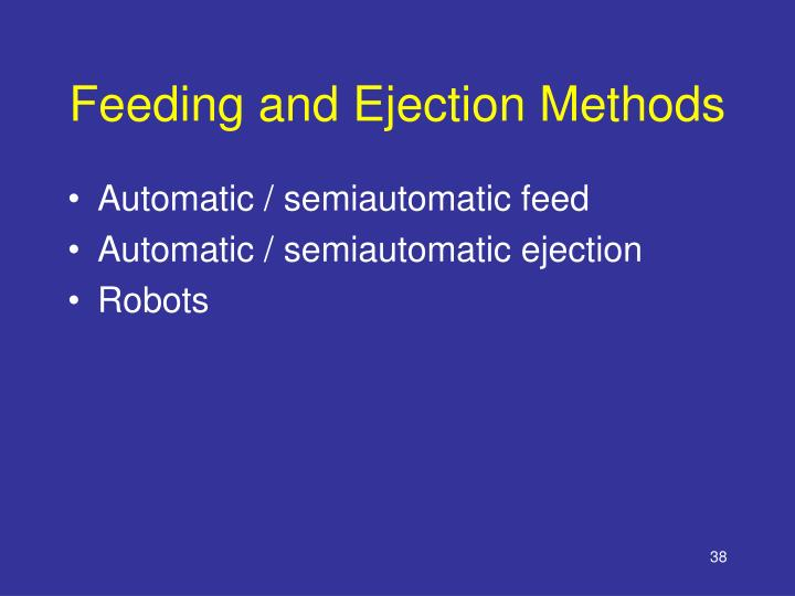 Feeding and Ejection Methods