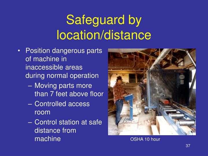 Safeguard by location/distance
