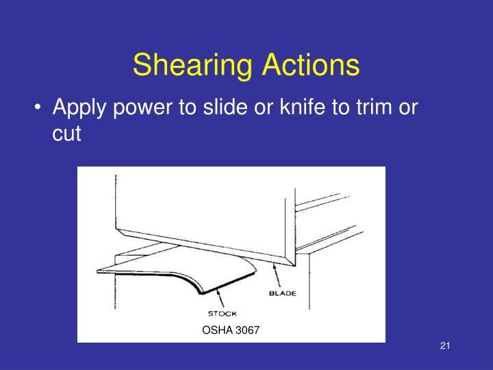 Shearing Actions