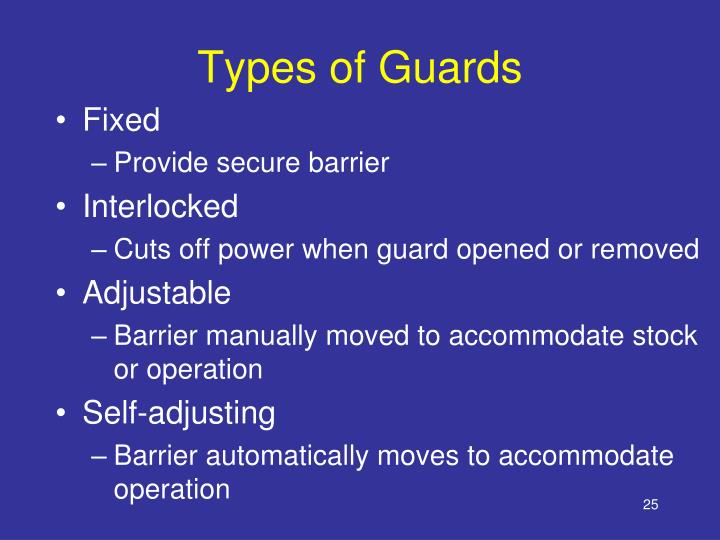 Types of Guards
