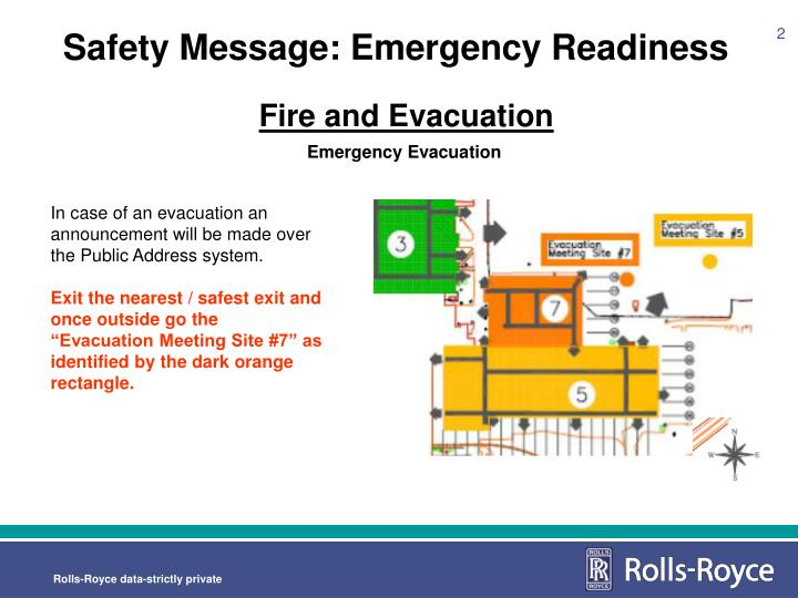 Safety message emergency readiness