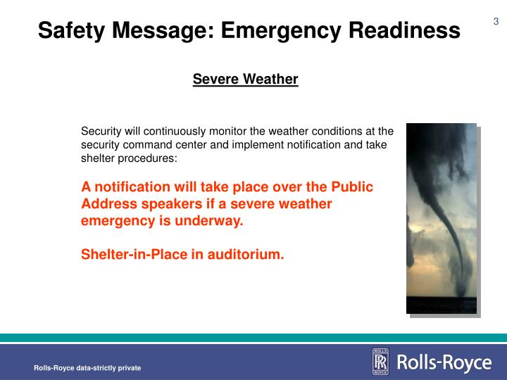 Safety message emergency readiness1