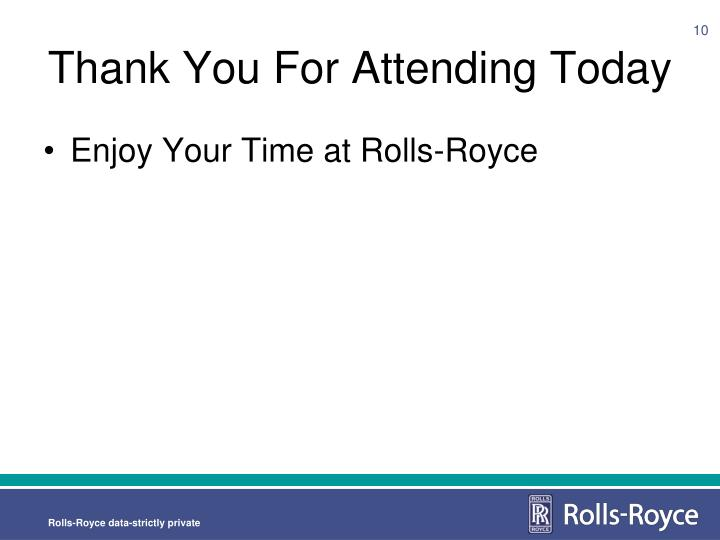 Thank You For Attending Today
