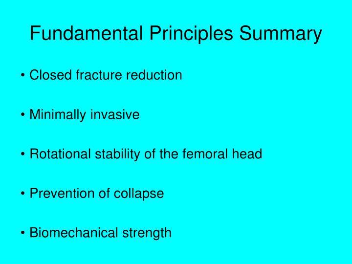 Fundamental Principles Summary