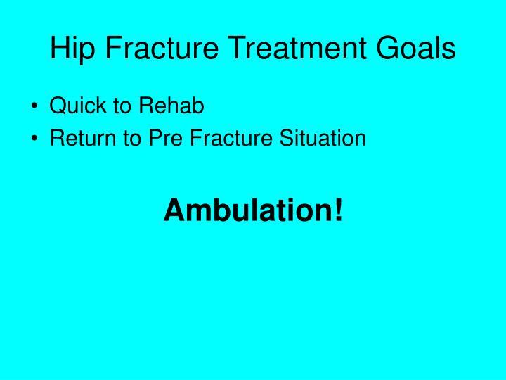Hip Fracture Treatment Goals