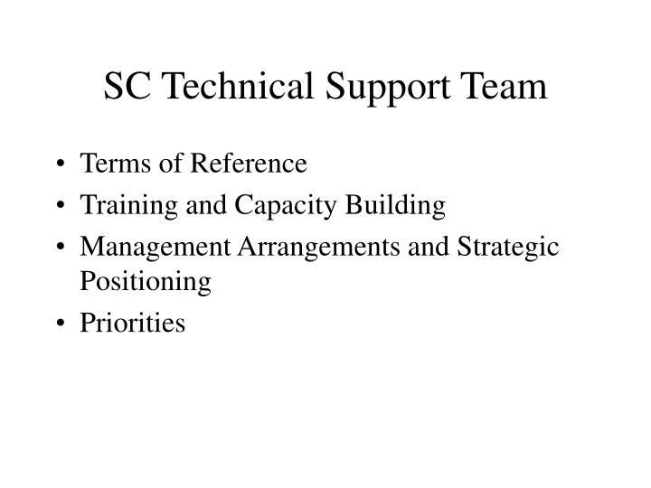 SC Technical Support Team