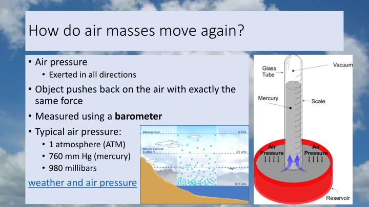 How do air masses move again?