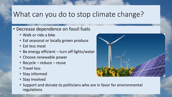 What can you do to stop climate change?