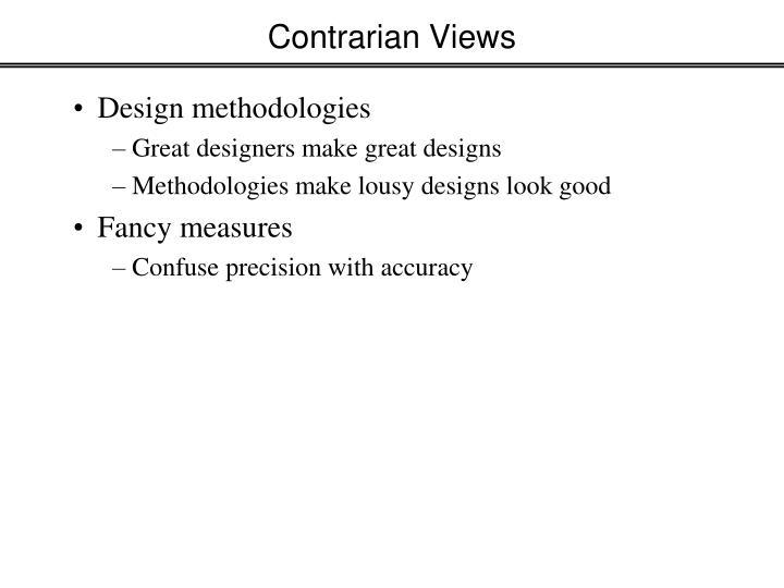 Contrarian Views