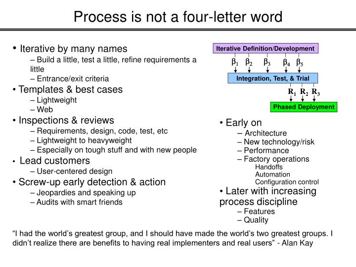 Process is not a four-letter word