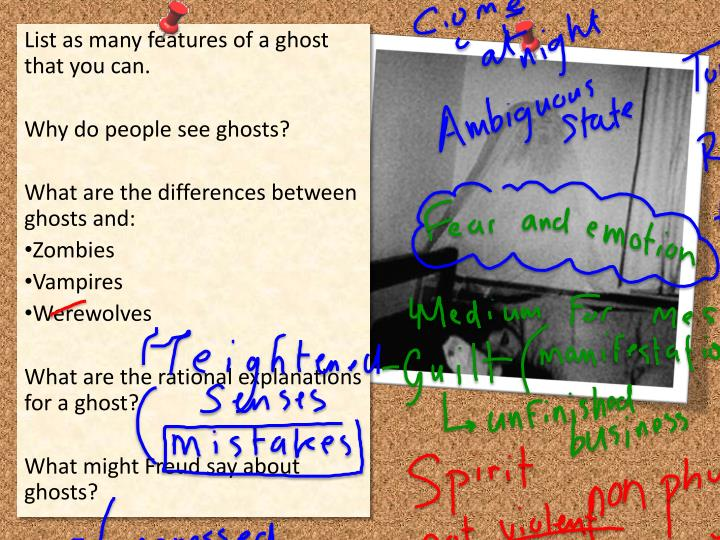 List as many features of a ghost that you can.