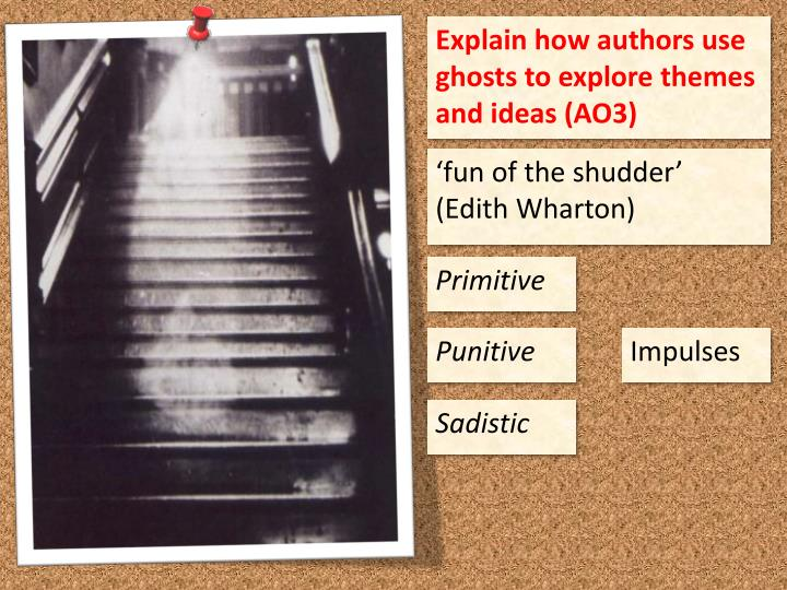 Explain how authors use ghosts to explore themes and ideas (AO3)