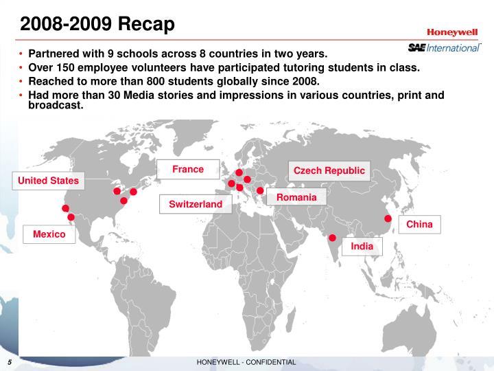 2008-2009 Recap