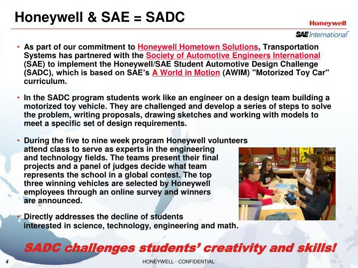 Honeywell & SAE = SADC