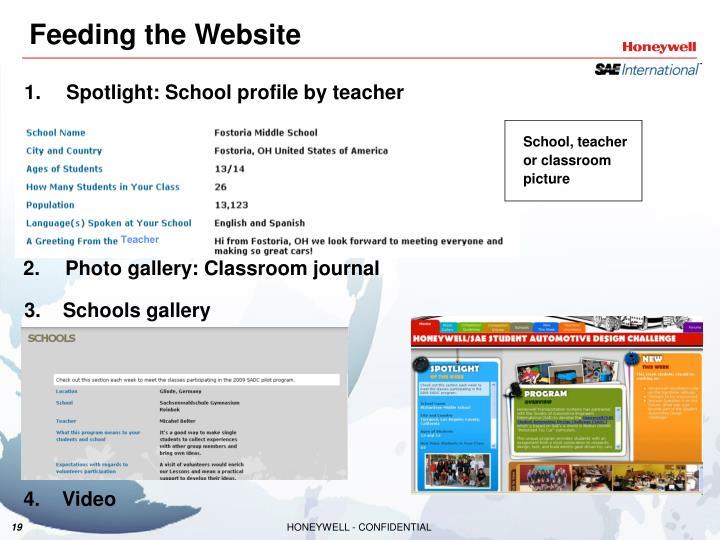 Spotlight: School profile by teacher