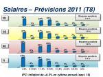 salaires pr visions 2011 t8