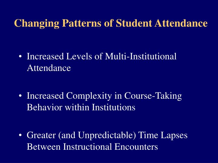 Changing Patterns of Student Attendance
