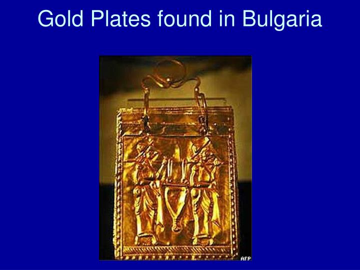 Gold Plates found in Bulgaria