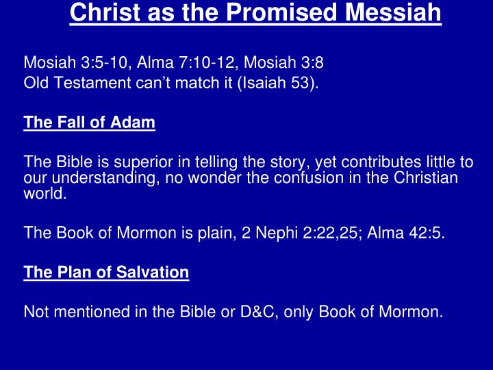 Christ as the Promised Messiah