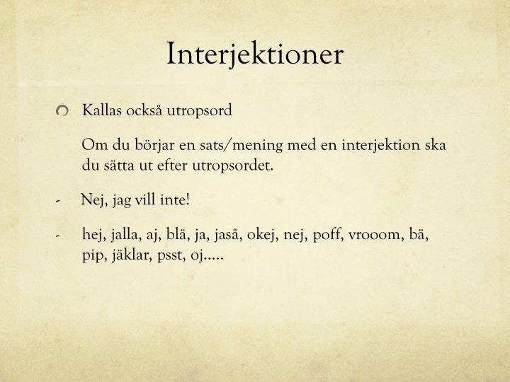 Interjektioner