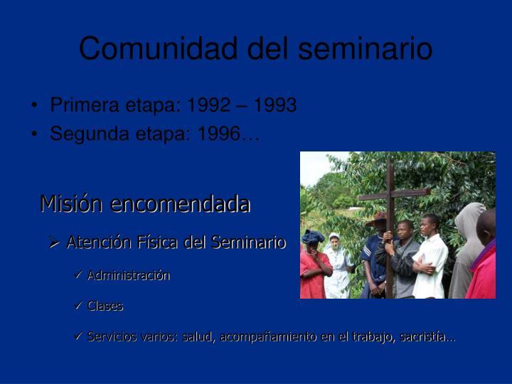 Comunidad del seminario